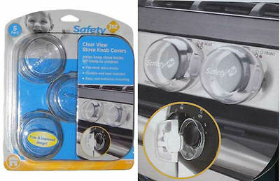"""Safety 1st"" CLEAR-VIEW STOVE KNOB COVERS - 5 PACK"