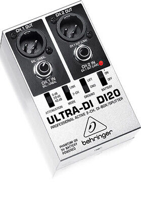 Behringer DI20 Ultra DI Box Active 2 Channel Signal Splitter