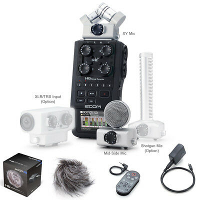 Zoom H6 Handy Digital Audio Recorder and Accessory Pack