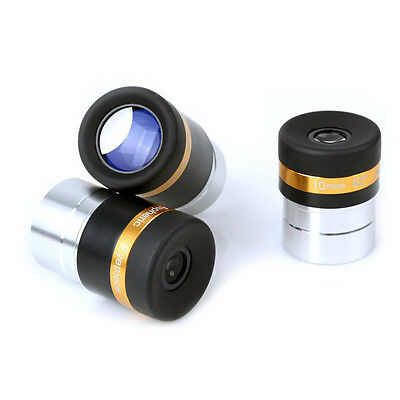 "1.25"" Wide Angle 62-Deg Eyepiece Lens 4mm/10mm/23mm Fully Coated for Telescope"
