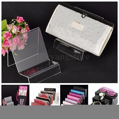 Acrylic Easel Catalog Display Wallet Book DVD Literature Stand Organizer Holder