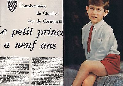 Coupure de presse Clipping 1957 Prince Charles d'Angleterre (7 pages)