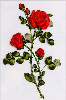 Ribbon Embroidery Kit Red Rose For Your Lover Needlework Craft Kit RE3004