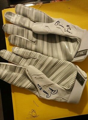 Pierre Desir Practice Worn Signed  Browns Chargers Nike Authentic  Gloves Coa