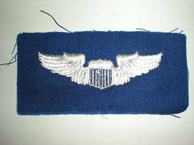 Usaf Pilot Wings -Color On Blue Twill