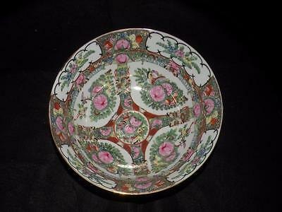 """Chinese Porcelain Hand Painted Oriental Center Bowl 10"""" D"""