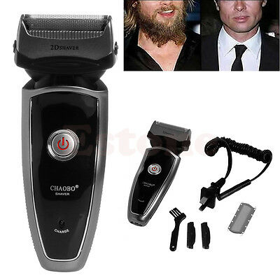 Men's Rechargeable Cordless Razor Shaver Electric Groomer Double Edge Trimmer US