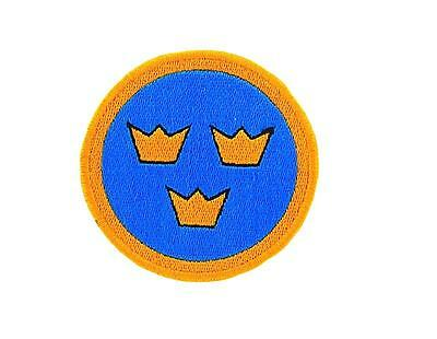 Flag patch patches embroidered iron / sew badge backpack army airforce sweden