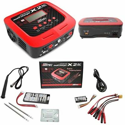Hitec 44238 X2 Pro 2 Port AC/DC Multi-Charger & Built-In Soldering Station