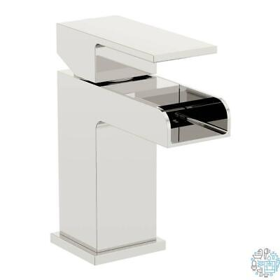 VeeBath Kinross Square Waterfall Designer Bathroom Sink Basin Mixer Tap Chrome