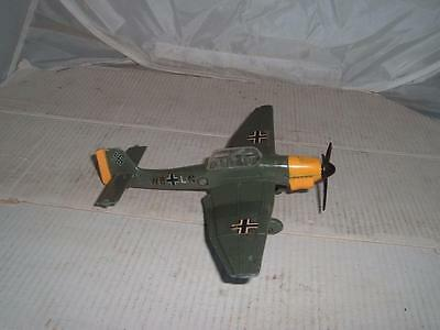 Dinky Toy Meccano Ltd Junkers Ju87B Aeroplane With A New Bomb Made In England