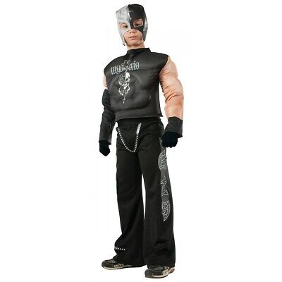 Muscle Chest Rey Mysterio Costume WWE Halloween Fancy Dress