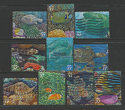 Scott #3831 a-j Set of 10, Pacific Coral Reef
