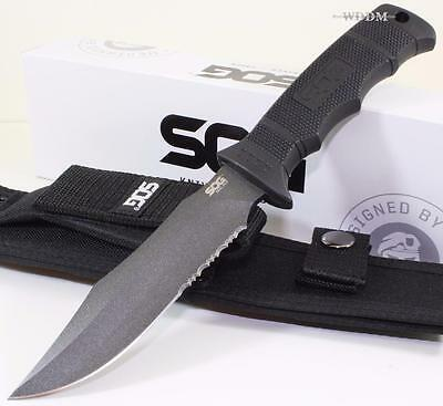 SOG Seal Pup Full Tang Clip Point Finger Grooved Tactical Combat Survival Knife
