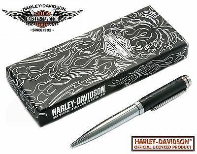 Harley Davidson Full Throttle Series #HDBP-1824 / Chrome & Leather Ball Point