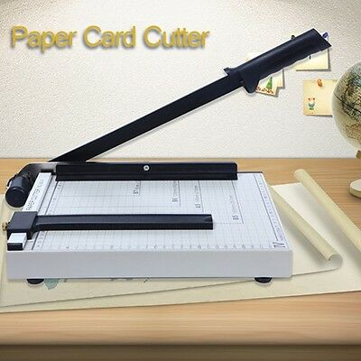 Premium Metal Paper Cutter Size A4 To B7 Guillotine Page Trimmer 12 Sheets