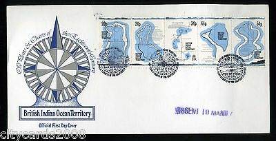 1994 BRITISH INDIAN OCEAN TERRITORY  Old Plans & Charts  First Day Cover
