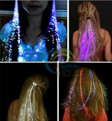 New LED Flash Wig Glowing Braid Hair Grip Party Holiday Supplies Decoration