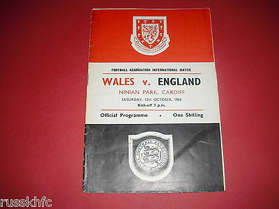 1963 Wales V England Signed By Wales Squad X 12 Including Manager