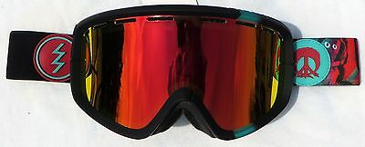 $140 Electric EGB2 Winter Snow Ski Gnarly Goggles Red Chrome Mirror uvex Lens