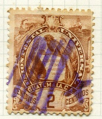 GUATEMALA;  1886 early Arms issue used 2c. value