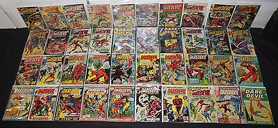Vintage Marvel Silver/Bronze Age Daredevil 40pc Low to Mid Grade Comic Lot