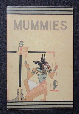 1963 MUMMIES by Richard Martin Paperback #36 VG Field Museum of Natural History