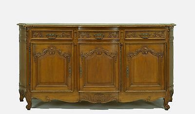 2201026 : Large Oak French Country Sideboard With Bombay Sides Buffet Cabinet