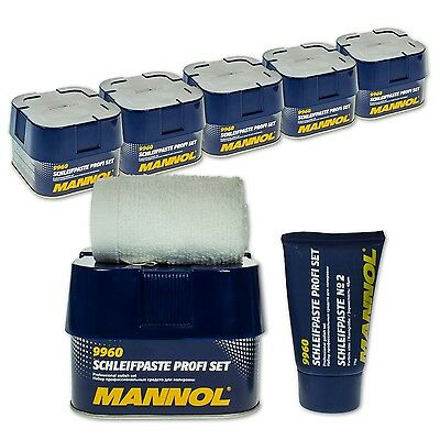 5 Sets Mannol Schleifpaste Profi Set/ Lackset