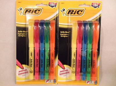 BIC Highlighter Brite Liner Chisel Tip Assorted Color 10 Count Marker Office