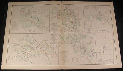 Battlefield of the Wilderness Virginia c.1890s antique detailed Civil War map
