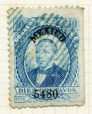 MEXICO;  1870s early classic issue fine used 10c. value
