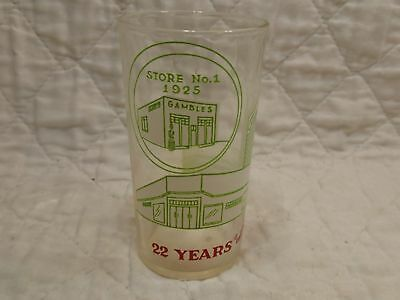 "1947 Measuring Glass - Gambles Dept. Stores / 22 Years Of Progress - ""NICE"""