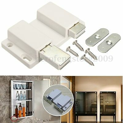 Magnetic Double Push to Open Touch Latch Catch Cabinet Cupboard Door Stopper ABS