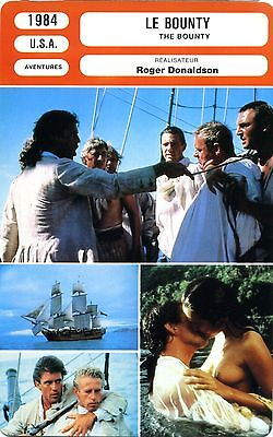 Fiche Cinéma. Movie Card. Le Bounty/The Bounty (USA) 1984 Roger Donaldson