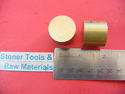 "2 Pieces 1"" BRASS C360 ROUND ROD 1"" long H02 Solid New Lathe Bar Stock"