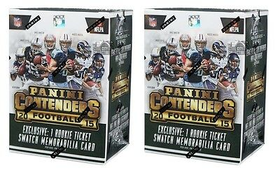 2015 Panini Contenders Football 5ct Blaster 2-Box Lot