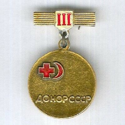 Awards, badges USSR Donor 3 degree of blood