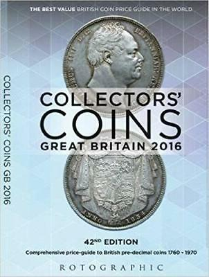 2016 Collectors Coins of Britain 1760 - 1970 Paperback Book Price Guide