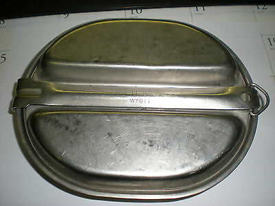 Us Genuine Gi Military Mess Kit - Recent Production - Used With Dents