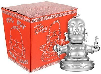 Kidrobot Simpsons ~ 7 inch Silver Buddha Homer ~ New in the Box