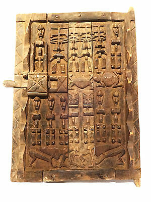 "Superb African Dogon Granary Door Mali 26"" h by 17.5"" w"