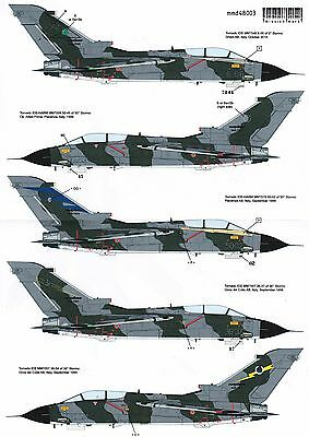 mmd48003/ Mission Mark Decals - AMI Tornados before turning gray - 1/48