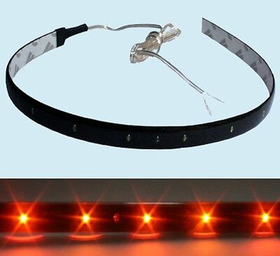 2x LED Strip wasserdicht flex 30cm 15 LED 12V gelb/orange