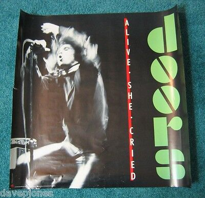 "THE DOORS Alive She Cried 1983 album USA Promo Poster 24"" x 24"" Jim Morrison"