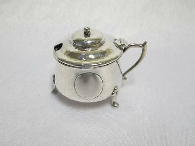 Antique Solid Sterling Silver Mustard Pot J R Attenborough Chester 1906