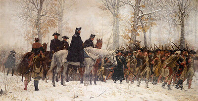 GEORGE WASHINGTON AT VALLEY FORGE  Giclee Canvas Print
