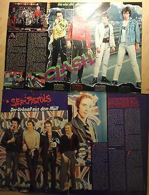 4 german clipping SEX PISTOLS CLASH PUNK BOY BAND BOYS NOT SHIRTLESS GROUP 70s