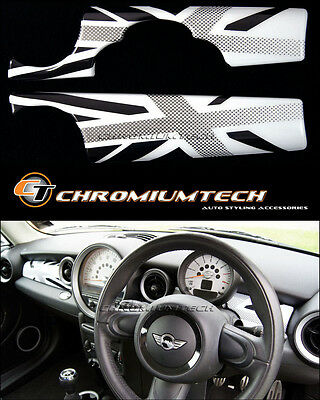 MK2 MINI Cooper/S/ONE White Union Jack Dashboard Panel Cover R55 R56 R57 R58 R59