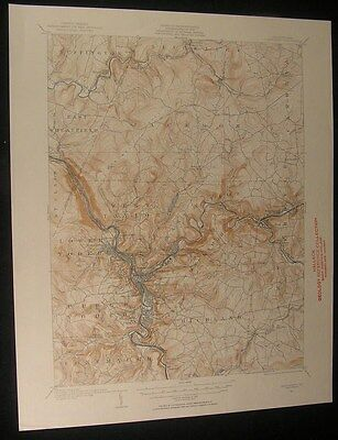Johnstown Pennsylvania Conemaugh River 1954 vintage USGS original Topo chart map